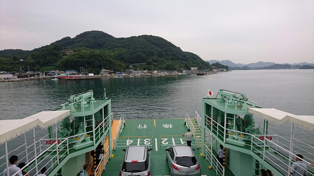 フェリーで大崎上島へ移動