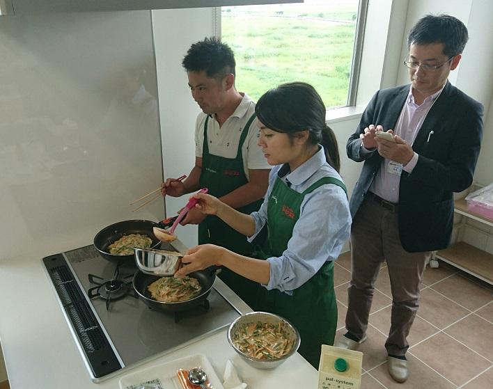 お料理セットの調理実践