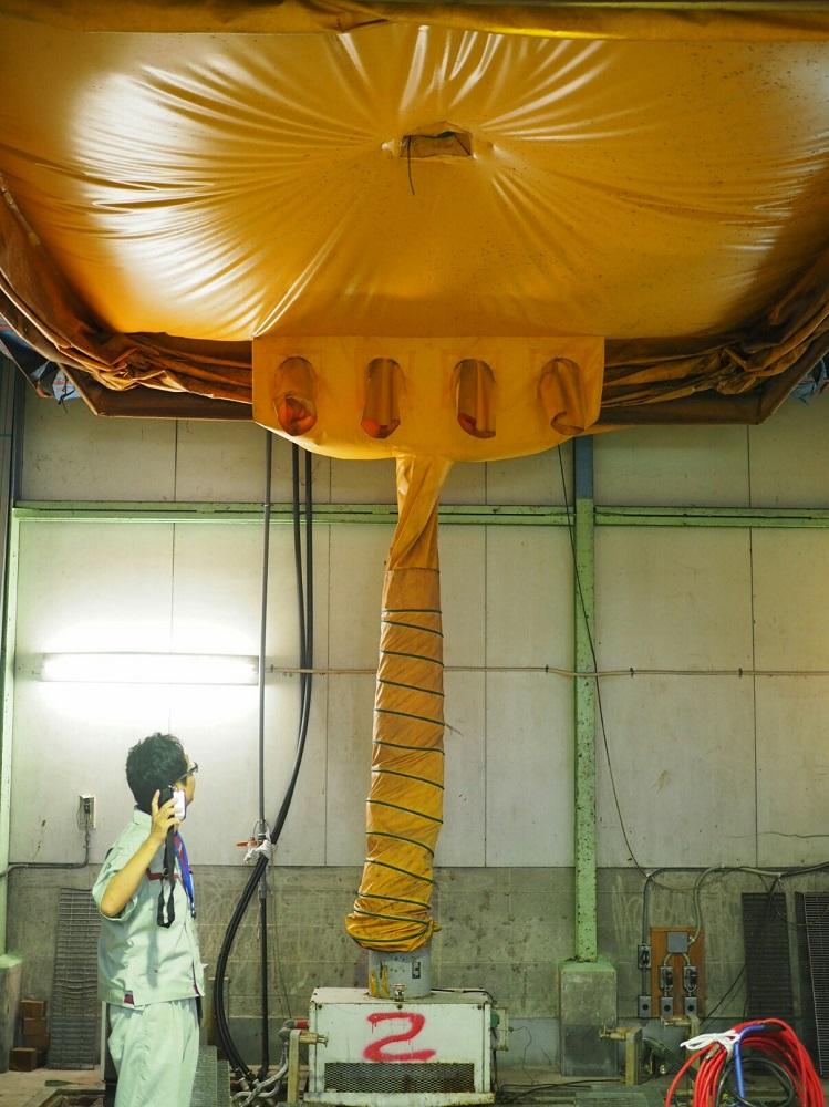 炭酸ガスで柿のシブ抜きをする設備